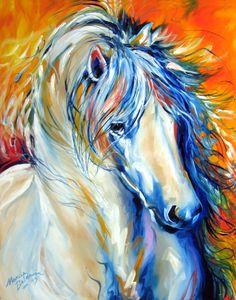 """Fire Thunder Equine"" par Marcia Baldwin"