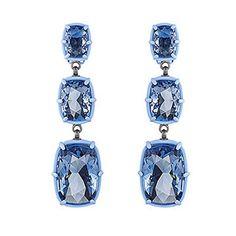 LOVE. Atelier Swarovski by Rosie Assoulin, Jewel-y McHue-y Chandelier Pierced Earrings from #Swarovski