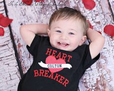 Heart Breaker Tattoo Boys Valentine Shirt by AllRibbonedOut, $20.00