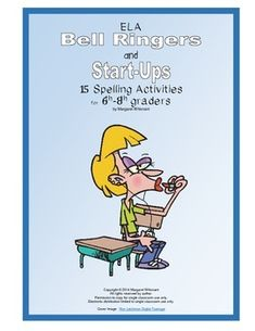 The activities in this set of 15 bell ringers and start-ups, written with 6th-8th graders in mind, are all spelling oriented. They focus on various letter combinations (-ough, ought), the i before e rule and its excpetions, homophones, words with numerous vowels, commonly misspelled words, and chain puzzles that require the correct spelling of random words.