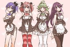 Serena, Yuzu, Rin and Ruri