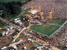 The Woodstock Festival in 1969 - Billed as 3 days of Love and Peace - as you can see it attracted large crowds.