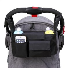 Includes Handy Buggy Hook for Bags Stroller Organizer Baby Diaper Bag with Mobile Phone Holder Ladybug Red Universal Fit for Strollers