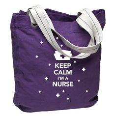 "#FallforADVANCE ""Keep Calm I'm a Nurse"" Port Authority® ""Allie"" Tote Bag"