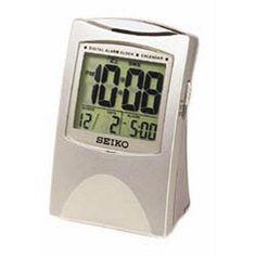 Seiko Silver Get Up & Glow Alarm Clock - QHL005SLH