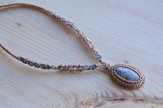 Macrame necklace macrame jewelry Sodalite necklace