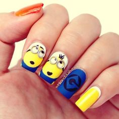 And these sexy Latest Easy Nail Art Designs for Short Nails 2016 will make your cute nails the next most beautiful thing on earth after you. Easy Nails, Easy Nail Art, Simple Nails, Cute Nails, Pretty Nails, Simple Nail Art Designs, Cute Nail Designs, Minion Nail Art, Uñas Fashion