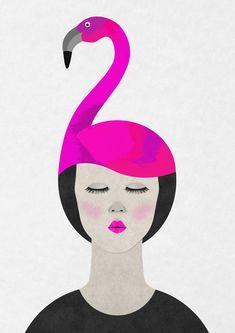 #houseofillustration | Pink Flamingo