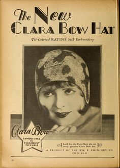 The New Clara Bow Hat