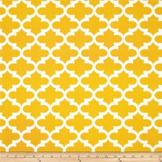 Premier Prints Indoor/Outdoor Fulton Citrus Yellow from @fabricdotcom  Premier Prints outdoor fabrics are screen printed on spun polyester and have a stain and water resistant finish. These fabrics withstand direct sunlight for up to 500 hours making them both durable and versatile, perfect for outdoor settings and indoor living in sunny rooms, great family friendly fabric!