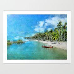 Praia de Carneiros Art Print by Diretório Do Design - $22.88