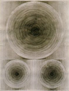 Untitled - Eva Hesse,1966. Black ink wash and pencil, 11.25  x 9 in. (29.8 x 22.9 cm.)    From Eva Hesse: A Retrospective by Yale University Art Gallery, 1992.