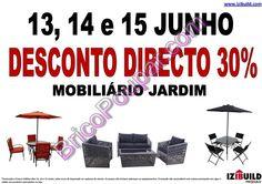 Antevisão Promoções Izibuild - desconto 30% em mobiliário de jardim - de 13 a 15 de junho