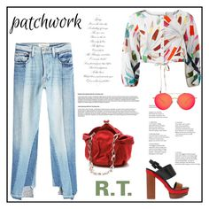 """R.T.-1976 All Patched Up: Patchwork"" by sopo-davituri on Polyvore featuring мода, Frame, Judith Leiber, Mara Hoffman, Michael Kors и Matthew Williamson"