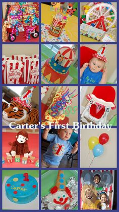 Circus Theme 1st Birthday