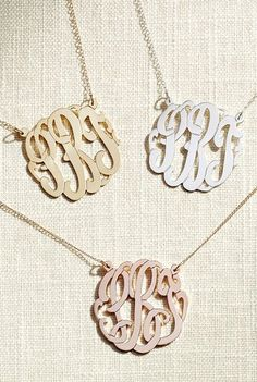 Cursive initial necklaces