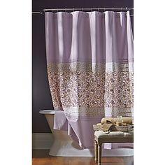 Dawn Shower Curtain. Lavender