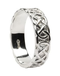 $375, women's Celtic knot white gold band