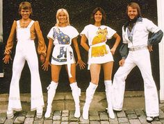 ABBA. Played at top volume while home alone, bellowing along at the top of our lungs. (What?)