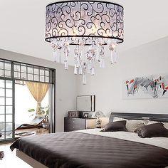 Moderno DRUM  lampadario di cristallo luci del soffitto incasso Lampada LIVING