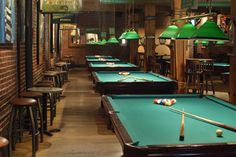 The Wynkoop Brewing Company. Colorado's oldest brewpub and great place to rack'em up and have a beer Sport Bar Design, Club Design, Billiards Bar, Billiard Room, Billard Design, Custom Pool Tables, Casino Room, Pool Table Room, Stair Lighting