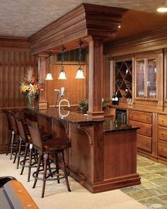 57 Fabulous Home Bar Designs You'll Go Crazy For. Decorating your ideal home bar design. Consider yourself lucky if you've got your own home bar – it's a perfect social gathering . Basement Bar Designs, Home Bar Designs, Basement Ideas, Basement Bars, Basement Flooring, Flooring Ideas, Teen Basement, Basement Kitchenette, Basement Ceilings