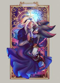 'remember' + process video by spacecoloniie on DeviantArt Shadow And Maria, Shadow And Amy, Sonic And Shadow, Sonic The Hedgehog, Shadow The Hedgehog, Maria Robotnik, Sonic Heroes, Sonic Fan Art, Cartoon Crossovers