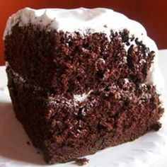 rich moist chocolate cake....the best ....7 minute fluffy white icing....to die for!
