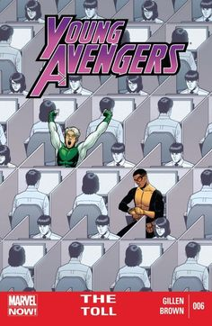 Young Avengers Vol. 2 #6 Ever wonder what the super hero equivalent of a terrible soul-sucking talent-wasting temp job is? You haven't? Oh go on. Actually, don't. We've done it for you and written a story about it. This one. Wonder what Tommy (aka Speed) has been up to? Discover herein. Existential horror turns cosmic horror as something emerges from the shadows of the past.