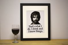 Tyrion Lannister cross stitch