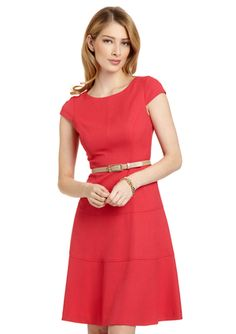 ANNE KLEIN DRESS Honeycomb Swing Dress