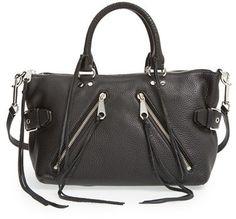 12248dab5f4e Rebecca Minkoff  Moto  Satchel  style  moto  handbag Black Leather Satchel
