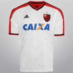 dc27501e3f440 Camisa Adidas Flamengo II 14 15 s nº - Branco e Vermelho
