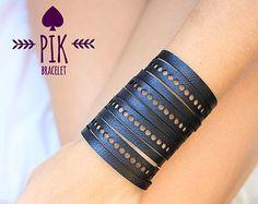 NEW model HOT PRICE Leather Bracelet cuff Leather by PikBracelet