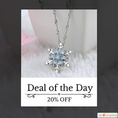Today Only! 20% OFF this item.  Follow us on Pinterest to be the first to see our exciting Daily Deals. Today's Product: Blue Crystal Snowflake Zircon Necklaces & Pendants Buy now: https://small.bz/AAaQFlC #musthave #loveit #instacool #shop #shopping #onlineshopping #instashop #instagood #instafollow #photooftheday #picoftheday #love #OTstores #smallbiz #sale #dailydeal #dealoftheday #todayonly #instadaily