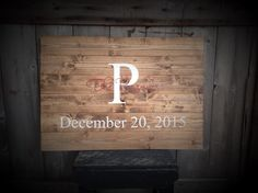 Guest Book Sign, Established Sign, The ___ last name Sign, Rustic Sign, Rustic Decor, Rustic Wedding, Sign with Initial & Date, size 30x20 by SimplyMadeDesignsbyb on Etsy