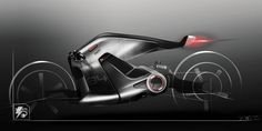 Electric motorcycle sketch PART I on Behance