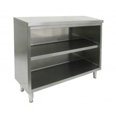 All Stainless Steel Storage Dish Cabinet. Stainless steel series sink bowl available also. Body enclosed on three sides with 22 Gauge stainless steel. Top constructed of 18 Gauge stainless steel.