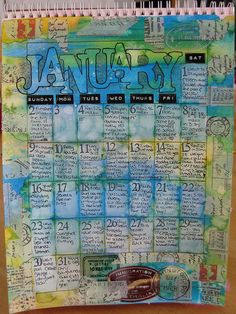 This is so gorgeous and such a great way to get a few words down each day. - adapt it to work for a calender that matches my style at the beginning of each month in our scrapbooks
