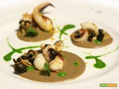 Fish Recipes, Healthy Recipes, Calamari, Aesthetic Food, Antipasto, Panna Cotta, Menu, Food And Drink, Cooking