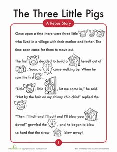 Print out The 3 Little Pigs story of your own. A picture is worth a lot for literacy! This rebus story is a perfect picture story. Hone your child's…