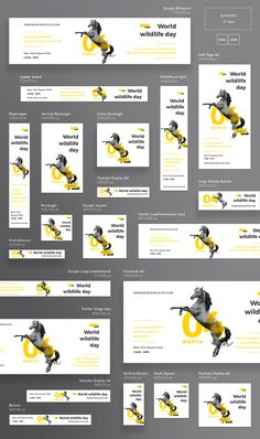 World Wildlife | Modern and Creative Templates Suite on Behance Display Banners, Display Ads, Web Banners, Banner Design Inspiration, Web Banner Design, Digital Banner, Digital Signage, Google Banner, Wildlife Day