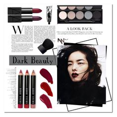 """Dark Beauty"" by mandy-saur ❤ liked on Polyvore featuring beauty, Witchery, Ellis Faas, Bobbi Brown Cosmetics, NYX, NARS Cosmetics, Beauty, Dark, contestentry and darklips"