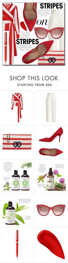 """""""Pattern Challenge: Stripes on Stripes"""" by loveislikeasong ❤ liked on Polyvore featuring Monse, Rosetta Getty, Dsquared2, Tommy Hilfiger, Montblanc and Lipstick Queen"""
