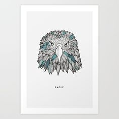 #eagle #illustration #print #poster #art