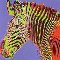 Endangered Spieces, Grevy's Zebra, 1983. Andy Warhol