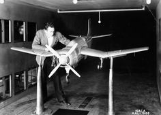 A scale model is being prepared for study in one of the 7 x 10 Foot Wind Tunnels at the NACA Ames Aeronautical Laboratory.