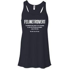 Felinetrovert - Ladies Flowy Tank