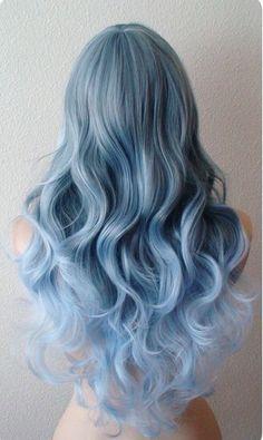Beautiful blue hair color
