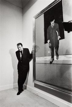 Francis Bacon à la galerie Lelong, 1987 (Michel Ginies Photography)